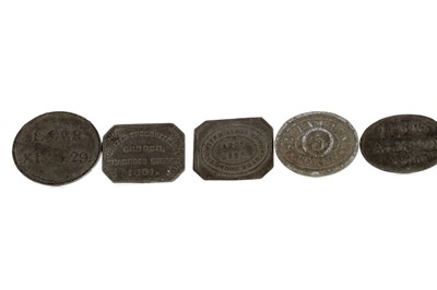 Lot 47 - A GROUP OF COMMUNION TOKENS