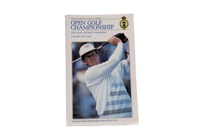 Lot 1712 - AN AUTOGRAPHED OPEN GOLF CHAMPIONSHIP OFFICIAL PROGRAMME 1986
