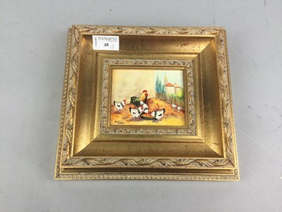 Lot 48 - A LOT OF THREE PAINTED MINIATURES BY DANIELLE COURTOUT