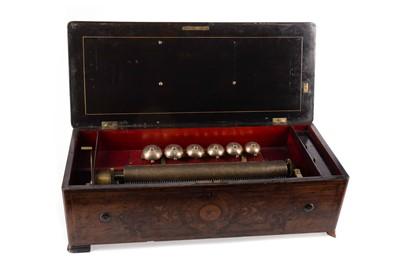 Lot 1184 - A LATE 19TH CENTURY SWISS WALNUT MUSIC BOX