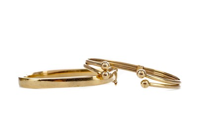 Lot 1326 - TWO GOLD BANGLES