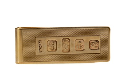 Lot 1331 - A GOLD MONEY CLIP