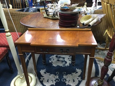 Lot 51 - A YEW WOOD CONSOLE TABLE