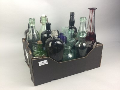 Lot 23 - A COLLECTION OF EARLY 20TH CENTURY GLASS BOTTLES