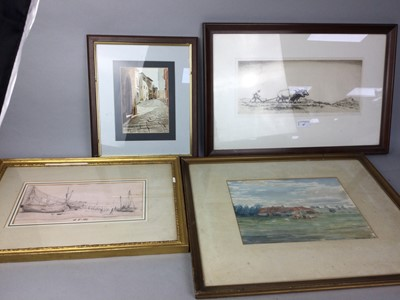 Lot 67 - W DOUGLAS MACLEOD, ETCHING AND OTHER PICTURES AND PRINTS