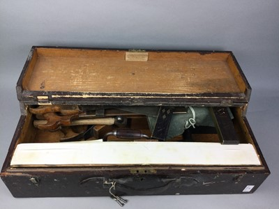 Lot 24 - A TOOL BOX CONTAINING A GOOD SELECTION OF EARLY 20TH CENTURY TOOLS