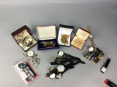 Lot 71 - A COLLECTION OF COSTUME JEWELLERY AND FASHION WATCHES