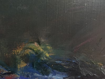 Lot 2008 - SUNSET OVER THE HILLS, AN OIL BY JAMES DOWNIE ROBERTSON