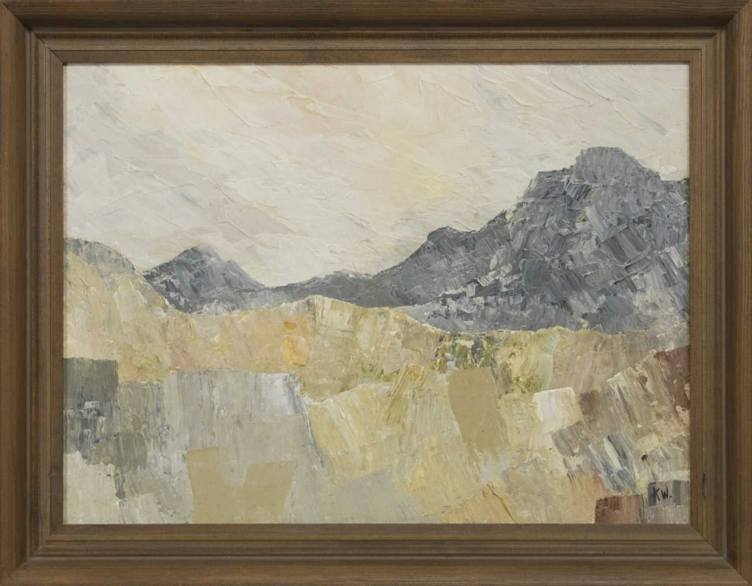 Lot 18 - DISUSED QUARRY, NANTLLE, AN OIL ATTRIBUTED TO KYFFIN WILLIAMS