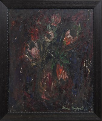 Lot 2010 - FLORAL STILL LIFE, AN OIL BY ANNE REDPATH