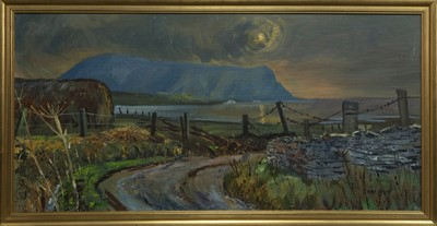 Lot 516 - ROAD TO THE SEA, ORKNEY, AN OIL BY IAN MACINNES