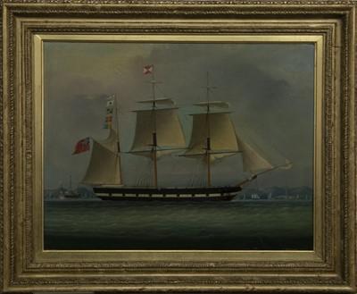 Lot 112 - SHIP PORTRAIT, A BRITISH OIL