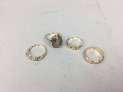 Lot 75 - A LOT OF FOUR VARIOUS GOLD RINGS
