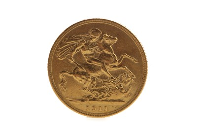 Lot 70 - A GOLD GEORGE V SOVEREIGN DATED 1911