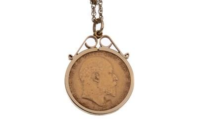 Lot 1 - AN EDWARD VII SOVEREIGN DATED 1906