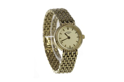 Lot 715 - A LADY'S ROTARY GOLD PLATED QUARTZ WRIST WATCH