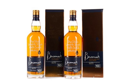 Lot 18 - TWO BOTTLES OF BENROMACH 10 YEARS OLD