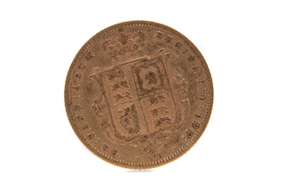 Lot 3 - A VICTORIA GOLD HALF SOVEREIGN DATED 1872