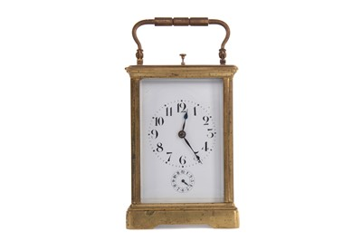 Lot 1111 - A LATE VICTORIAN REPEATER CARRIAGE CLOCK