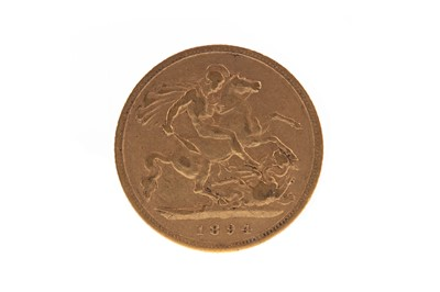 Lot 5 - A VICTORIA GOLD HALF SOVEREIGN DATED 1894