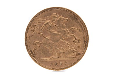Lot 6 - A VICTORIA GOLD HALF SOVEREIGN DATED 1897