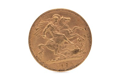 Lot 7 - AN EDWARD VII GOLD HALF SOVEREIGN DATED 1902