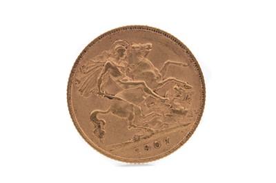 Lot 12 - AN EDWARD VII GOLD HALF SOVEREIGN DATED 1907