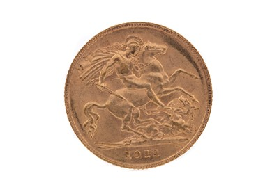 Lot 13 - A GEORGE  V GOLD HALF SOVEREIGN DATED 1911