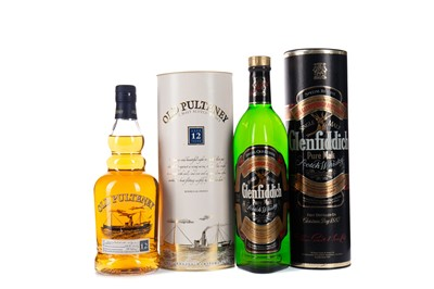 Lot 20 - GLENFIDDICH SPECIAL OLD RESERVE AND OLD PULTENEY AGED 12 YEARS