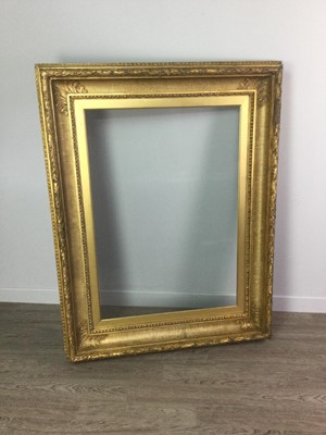 Lot 1681 - A LATE VICTORIAN GILTWOOD PICTURE FRAME