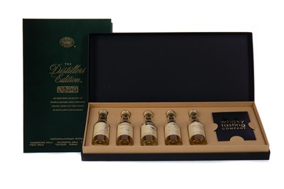 Lot 26 - CLASSIC MALTS OF SCOTLAND DISTILLERS EDITION MINIATURE SET AND WHISKY TASTING COMPANY SET