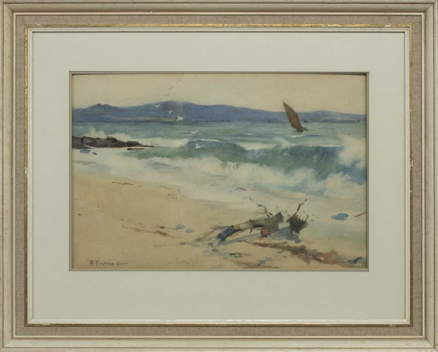Lot 53 - THE MORNING AFTER A STORM, A WATERCOLOUR BY DAVID FULTON