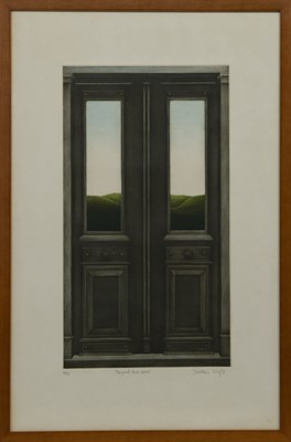Lot 637 - BEYOND THESE DOORS,  A MEZZOTINT BY DOROTHEA WIGHT