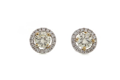 Lot 861 - A PAIR OF CERTIFICATED DIAMOND EARRINGS