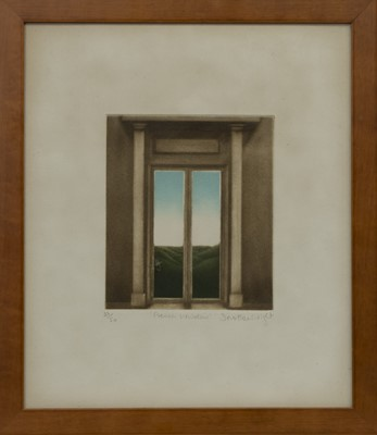 Lot 631 - FRENCH WINDOW, A MEZZOTINT BY DOROTHEA WIGHT