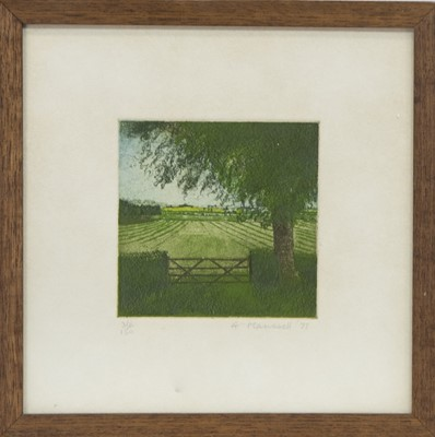 Lot 574 - A SET OF FOUR COUNTRY SCENE MEZZOTINTS BY ANNABEL MAUNSELL