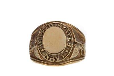Lot 1462 - A GOLD US NAVY RING