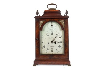 Lot 1122 - A GEORGE III BELL TOP BRACKET CLOCK BY RICHARD YOUNG
