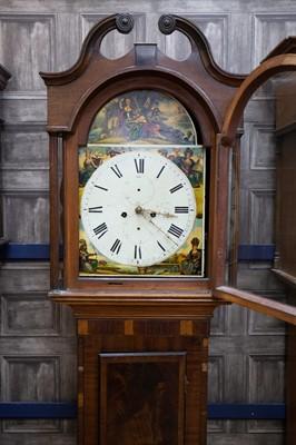Lot 1109 - A VICTORIAN MAHOGANY LONGCASE CLOCK