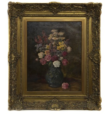 Lot 58 - STILL LIFE IN A VASE, AN OIL BY CAMILLE MATISSE