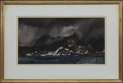Lot 513 - LOCH HOURNE, A WATERCOLOUR BY TOM HOVELL SHANKS