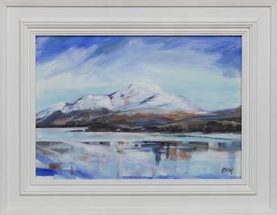 Lot 526 - BEN LOMOND IN THE SNOW, AN ACRYLIC BY HELEN MCDONALD MATHIE