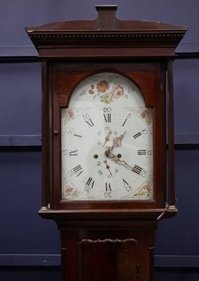 Lot 1113 - A VICTORIAN MAHOGANY LONGCASE CLOCK