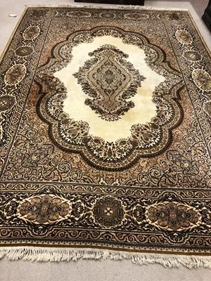 Lot 1693 - A PERSIAN DESIGN CARPET