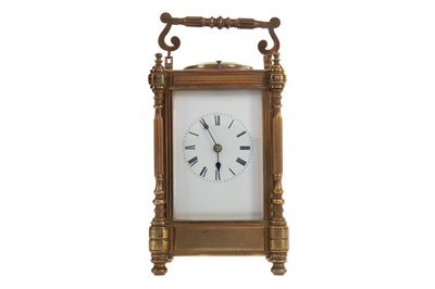 Lot 1119 - A LATE 19TH CENTURY REPEATER CARRIAGE CLOCK