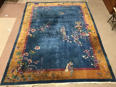 Lot 941 - A CHINESE BORDERED CARPET