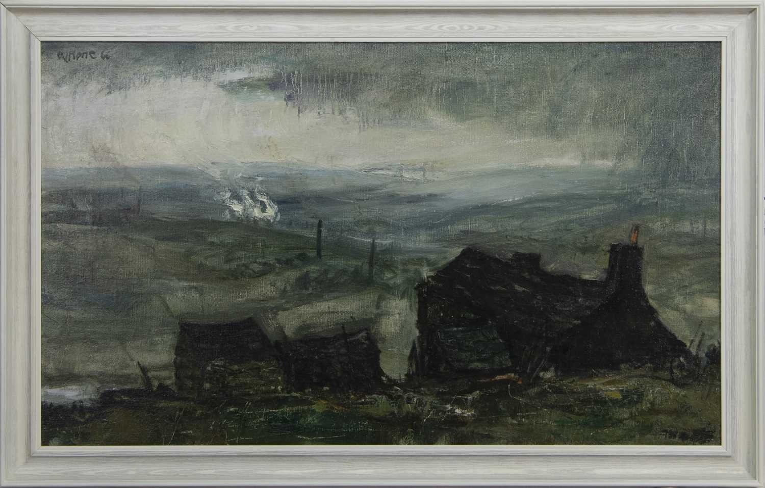 Lot 644 - THE OLD FARMHOUSE, AN OIL BY HERBERT WHONE