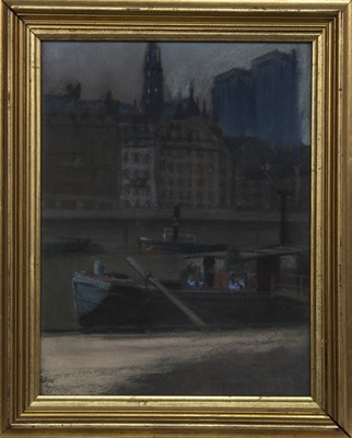 Lot 35 - ACROSS THE CLYDE, A PASTEL BY WALTER PENDER