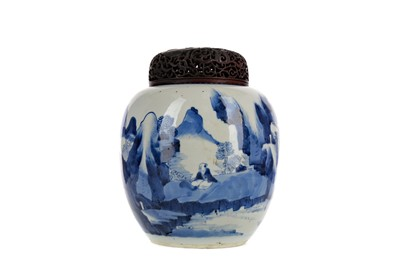 Lot 972 - A LATE 19TH CENTURY CHINESE STONEWARE GINGER JAR