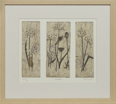 Lot 554 - MEADOW, AN ETCHING BY PAT CROMBIE